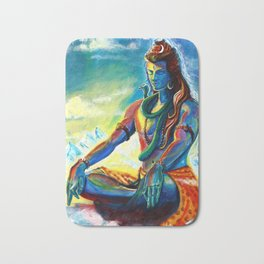 Shiva In meditation Bath Mat