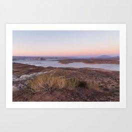 Pastel sunset at Lake Powell Art Print