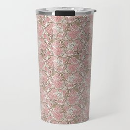 Dusky Pink Blooms Travel Mug