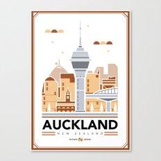 City Illustrations (Auckland, New Zealand) Canvas Print