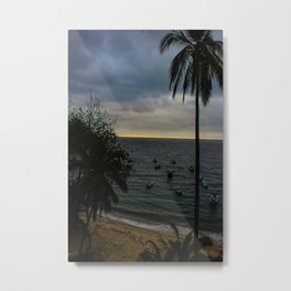 Dreamy Mexican Beach Sunset Metal Print