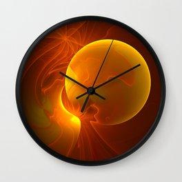 Sun abstract, Fractal Art Wall Clock