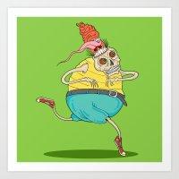 Flip it Skull Art Print