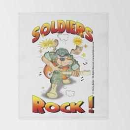 SOLDIERS ROCK NOBKGRND Throw Blanket