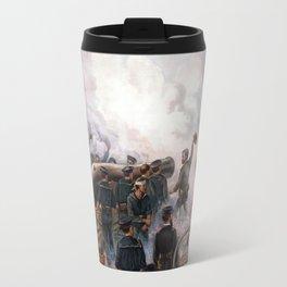 Battle Between Kearsarge And Alabama -- Civil War Travel Mug