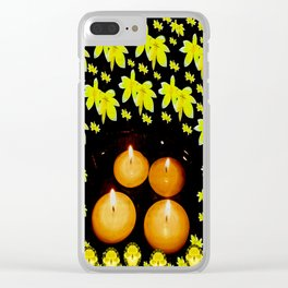 Meditation pattern Clear iPhone Case