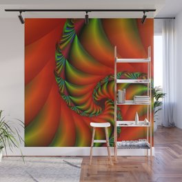 burning red -2- Wall Mural