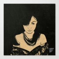 cassandra jean Canvas Prints featuring Cassandra by Emmy Wong