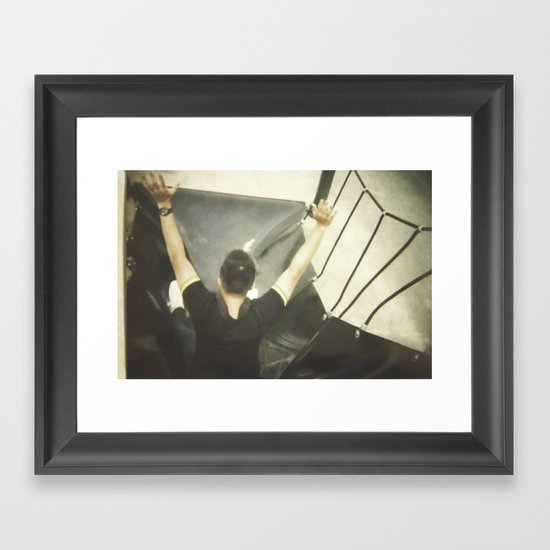Kid-dult Boy Framed Art Print