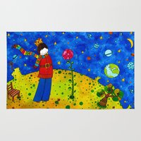 the little prince Area & Throw Rugs featuring The Little Prince by Sandra Nascimento