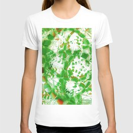 Green industrial abstract T-shirt