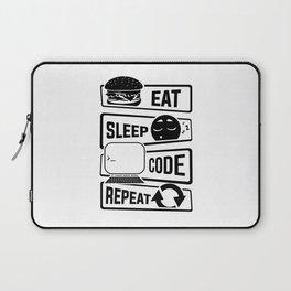 Eat Sleep Code Repeat - Computer Programmer CLI Laptop Sleeve