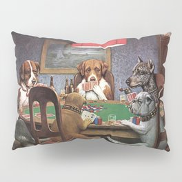 Dogs Playing Poker A Friend in Need Painting Pillow Sham