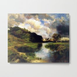 River Landscape, Amagansett, Long Island, New York pastoral by Thomas Mann Metal Print