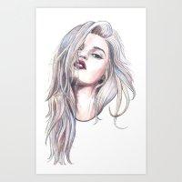 sky ferreira Art Prints featuring Sky Ferreira  by Asquared2Art