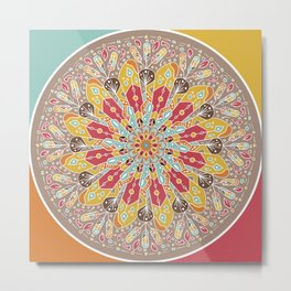 Mandala Boho Style Metal Print