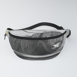 Highland Cow in the Tub Fanny Pack