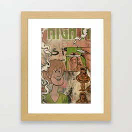 Shaggy's Daydream Framed Art Print