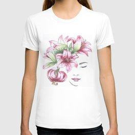Lilium watercolor T-shirt