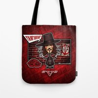 vendetta Tote Bags featuring V for Vendetta by Emanpris Artcore