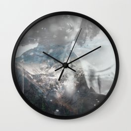 Now I am winter Wall Clock
