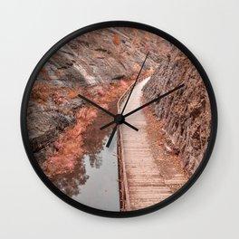 Paw Paw Boardwalk Trail - Pastel Fantasy Wall Clock