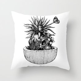 Spring (Black version) Throw Pillow