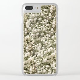 White Linen Baby's Breath Clear iPhone Case