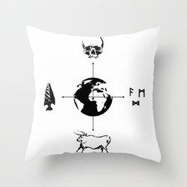 Anthropology: The Four Subdisciplines (Version 2.0) Throw Pillow