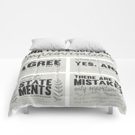 Tina Fey's Rules of Improvisation Comforters