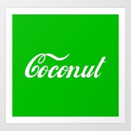 Coconut Art Print