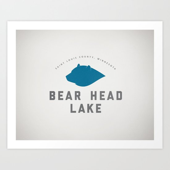 Bear Head Lake Art Print