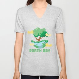 Earth Day Tree Unisex V-Neck