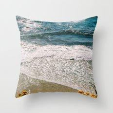 Flowers meet the Sea Throw Pillow
