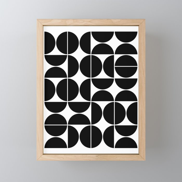 ceab3e9b80e5 Mid Century Modern Geometric 04 Black Framed Mini Art Print by ...