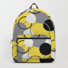 Solid Color Circles and Rings Pattern V3 Pantone 2021 Color Of The Year Illuminating and Ultimate Gray  Backpack