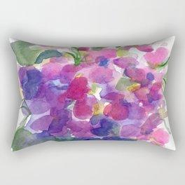 Little Pink Violets Rectangular Pillow