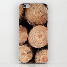 Sawn logs iPhone Skin