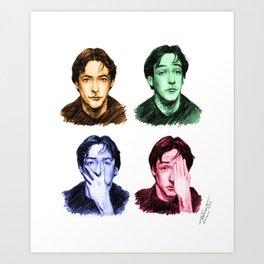 Many faces of John Cusack Art Print