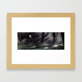 Encounter with the hippogriff Framed Art Print