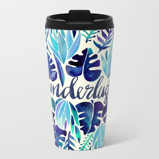 Tropical Wanderlust – Blue Metal Travel Mug