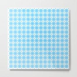 Background - blue mandala (zendala), abstract graphic-design vector pattern. Metal Print