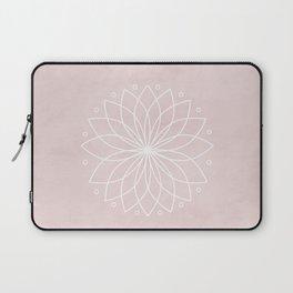 Mandala on Pink Watercolor Background Laptop Sleeve