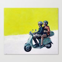 motorbike Canvas Prints featuring Motorbike by Sasha Robinson