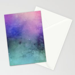 Watercolor space Stationery Cards