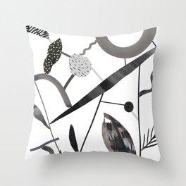 Abstract Botanica - 2 Throw Pillow