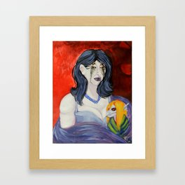 Woman with child Framed Art Print