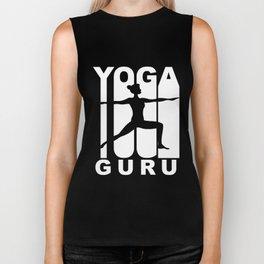 Vintage Style Yoga Guru Warrior Two Yoga Pose Biker Tank