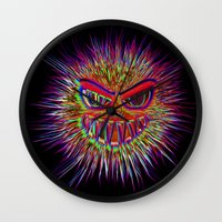 jojo Wall Clocks featuring Jojo the little Monster by MehrFarbeimLeben