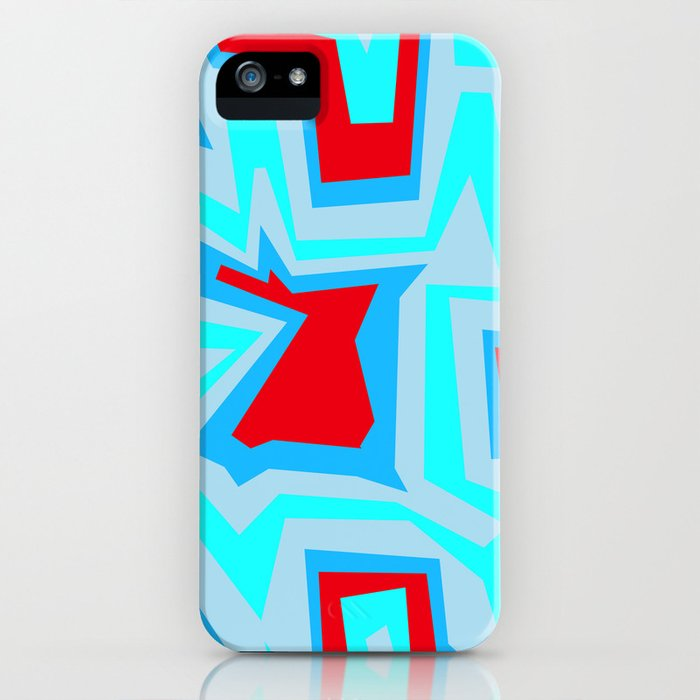 Ice Banded Red - Coral Reef Series iPhone Case